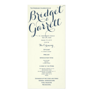 Ivory Designer Text Wedding Program