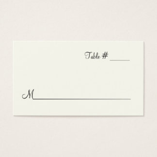Ivory Escort Place Card