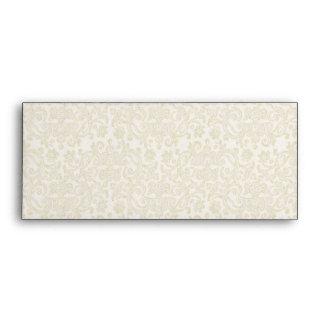 Ivory Filigree Envelope - #9