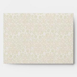 Ivory Filigree Envelope - A7 Greeting Card