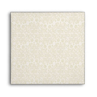 Ivory Filigree Envelope - Square