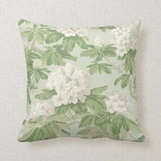 ivory floral botanical pattern cushion