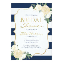 Ivory Floral Bridal Shower Invitation, Wedding Card
