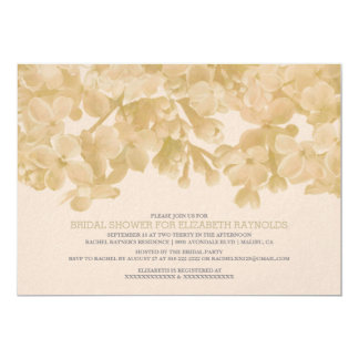 "Ivory Floral Bridal Shower Invitations 5"" X 7"" Invitation Card"