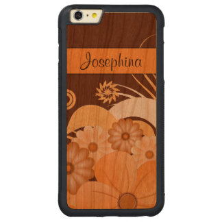 Ivory Floral Hibiscus Wood iPhone 6 6S Plus Cases