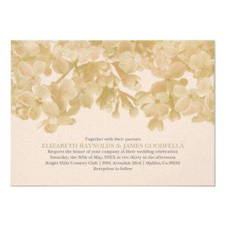 "Ivory Floral Wedding Invitations 5"" X 7"" Invitation Card"