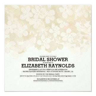 Ivory Flowers Bridal Shower Invitations Custom Invite