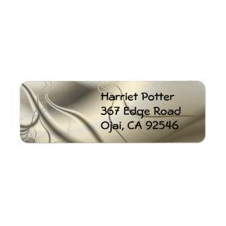 Ivory Fractal Art Label