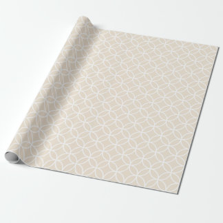 Ivory Geometric Circles Wrapping Paper