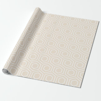 Ivory Geometric Pattern Wrapping Paper