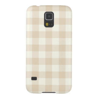 Ivory Gingham Pattern Galaxy S5 Case
