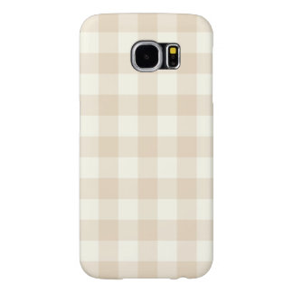 Ivory Gingham Pattern Galaxy S6 Case
