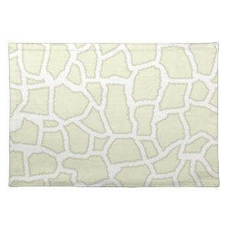 Ivory Giraffe Animal Print Placemats