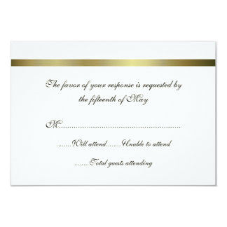 Ivory & Gold All Purpose Wedding Response Card