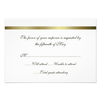 Ivory Gold All Purpose Wedding Response Card Personalized Invite