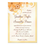 Ivory Gold and Peach Hibiscus Floral Elegant Card