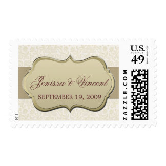 Ivory & Gold Couple Stamp
