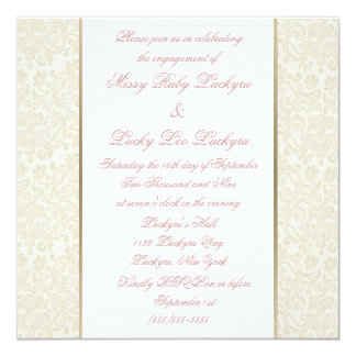 Ivory & Gold Engagement Party Invitation
