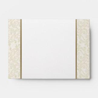 Ivory & Gold Envelope - A6