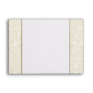 Ivory Gold Envelope - A7 Greeting Card