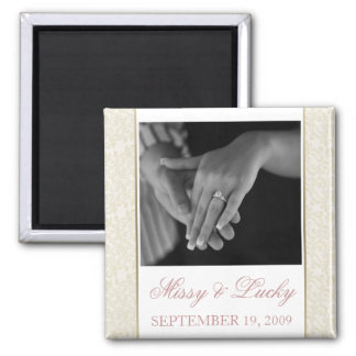 Ivory & Gold Filigree Save the Date Magnet