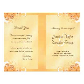 Ivory Gold Floral Elegant Bi-Fold Wedding Programs