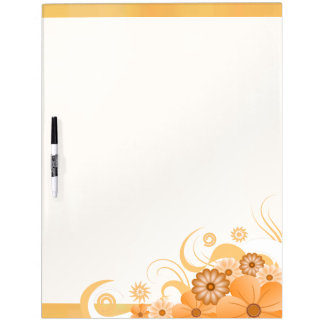 Ivory Gold Hibiscus Floral Dry-Erase Board 22x16 Dry-Erase Boards