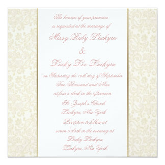 Ivory & Gold Invitation