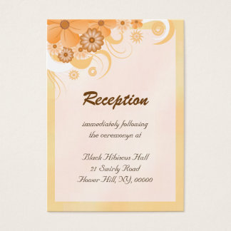 Ivory Gold Peach Wedding Reception Enclosure Cards