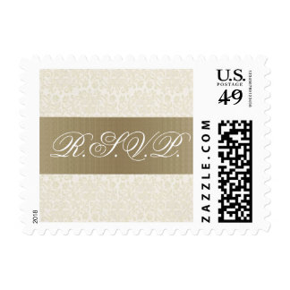 Ivory & Gold RSVP Stamp (Small)