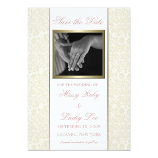 Ivory & Gold Save the Date Announcement