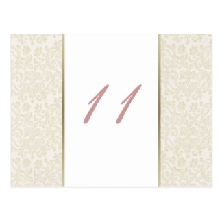 Ivory & Gold Table Numbers Postcard