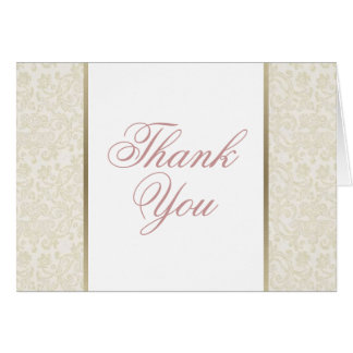 Ivory & Gold Thank You Card