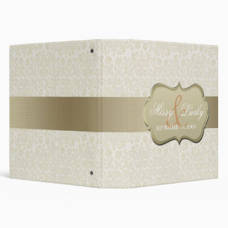 Ivory & Gold Wedding Planner/Album Vinyl Binder