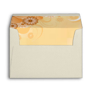 Ivory Hibiscus Floral Elegant Custom Envelopes Envelope