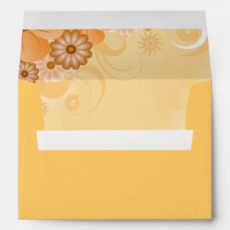 Ivory Hibiscus Floral Elegant Custom Envelopes