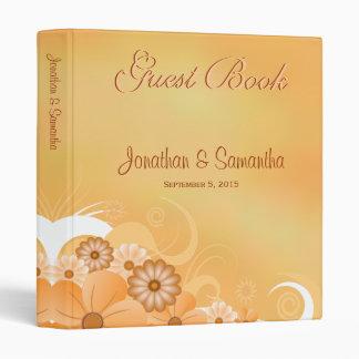 Ivory Hibiscus Floral Wedding Guest Book Guestbook Binder