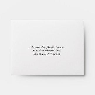 Ivory Lace & Burlap Rustic RSVP Wedding Envelope
