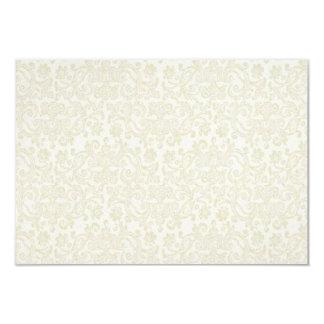 Ivory Lace Damask RSVP Note Card
