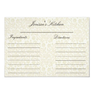"""Ivory Lace Recipe Cards (3.5"""" x 5"""") Invitations"""