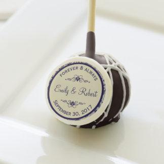 Ivory Lace Royal Navy Blue Formal Wedding Dessert Cake Pops