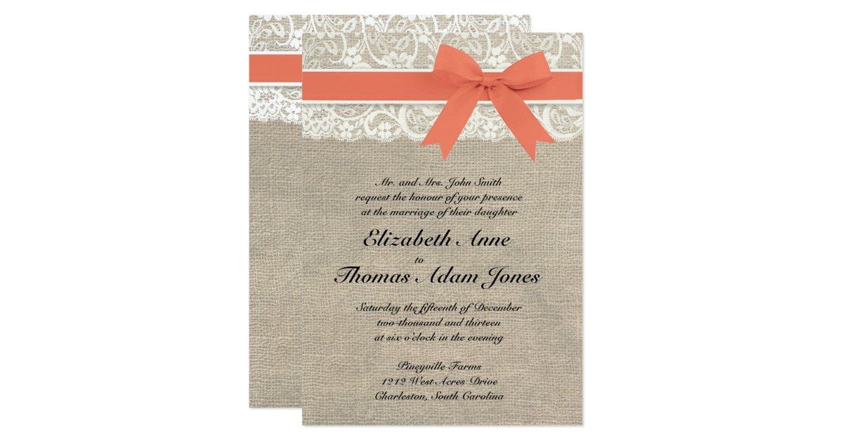 Coral Wedding Invitations Announcements – Wedding Invitations Coral