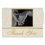 Ivory Lace Thank You Card