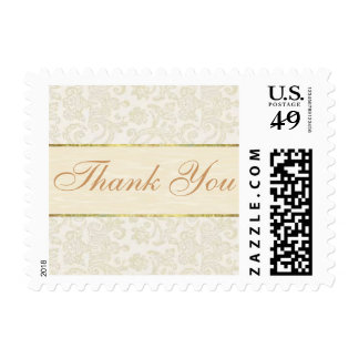 Ivory Lace Thank you Postage Stamp