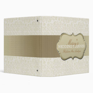 Ivory Lace Wedding Planner 3 Ring Binder