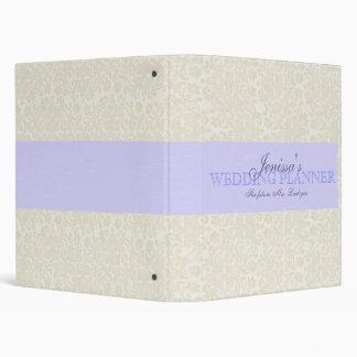 Ivory Lace with Powder Blue Ribbon Wedding Planner Binder