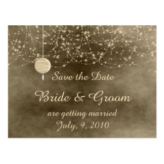 Ivory Lanterns Save the Date Postcard