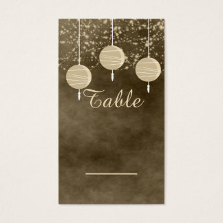 Ivory Lanterns Table Card