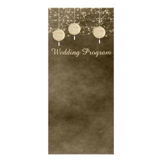 Ivory Lanterns Wedding Program Card