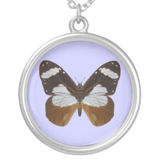 Ivory Merchant Butterfly Round Pendant Necklace